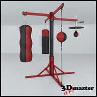 3D station frame boxing model