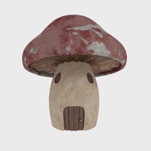 mushroom house1 3D model