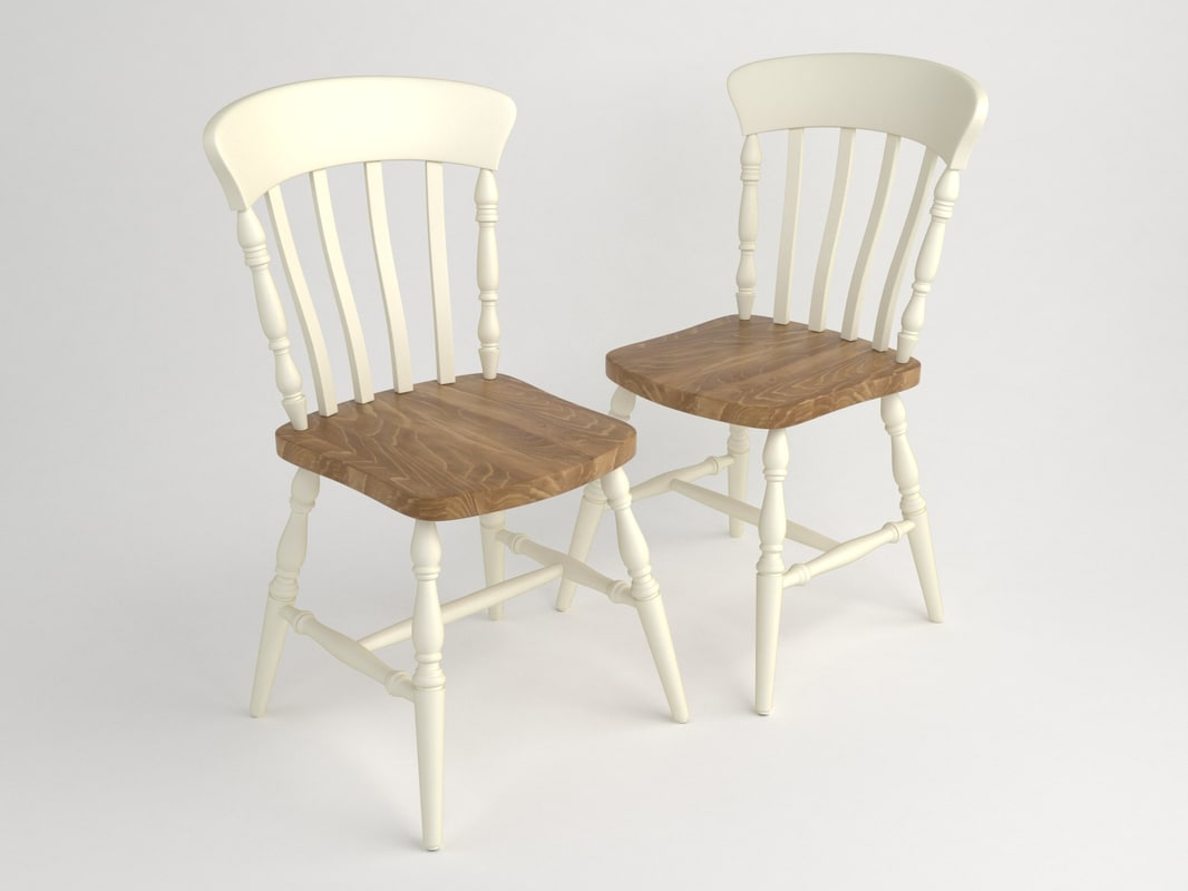 ashby dining chair 3D model