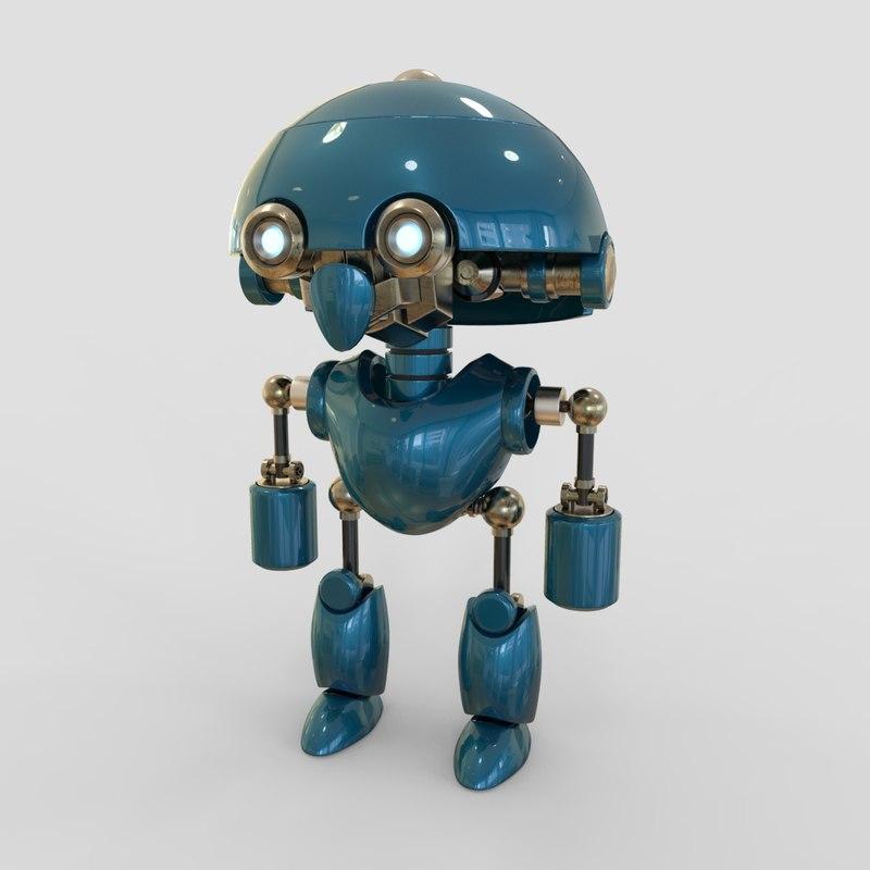 robot cartoon b 3D