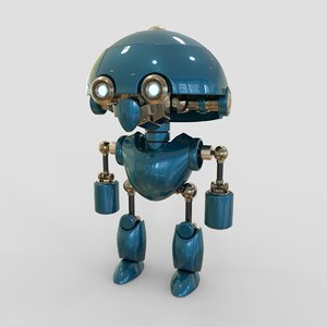 robot cartoon b 3D