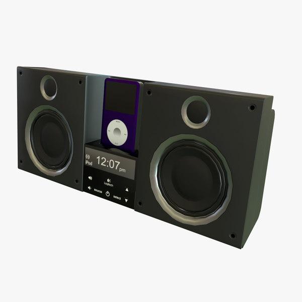 logitech speakers ipod 3D