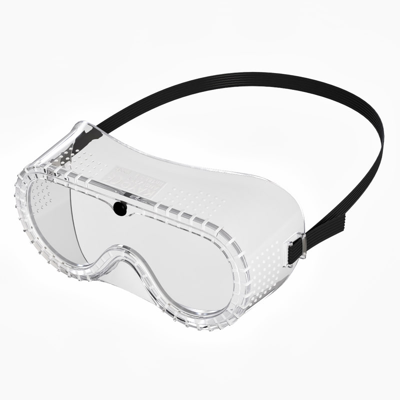 3D model safety goggles