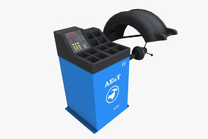 tire balancing machine 3D