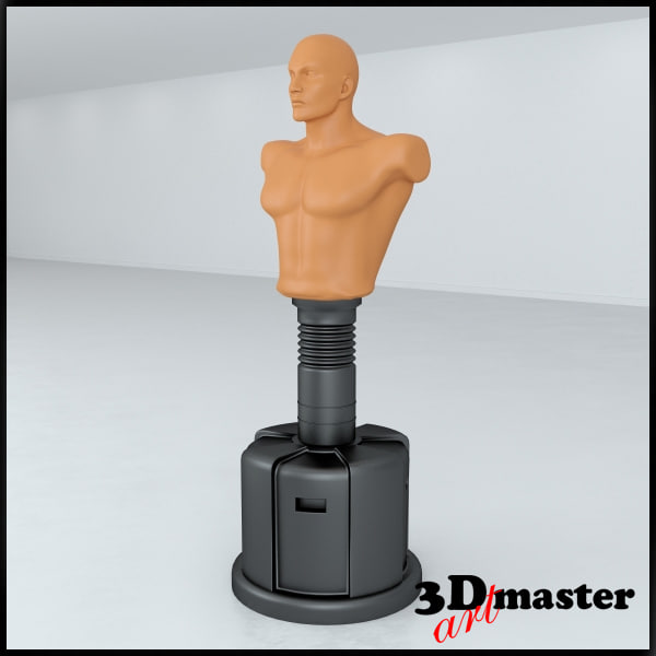 standing boxing punch bag 3D model