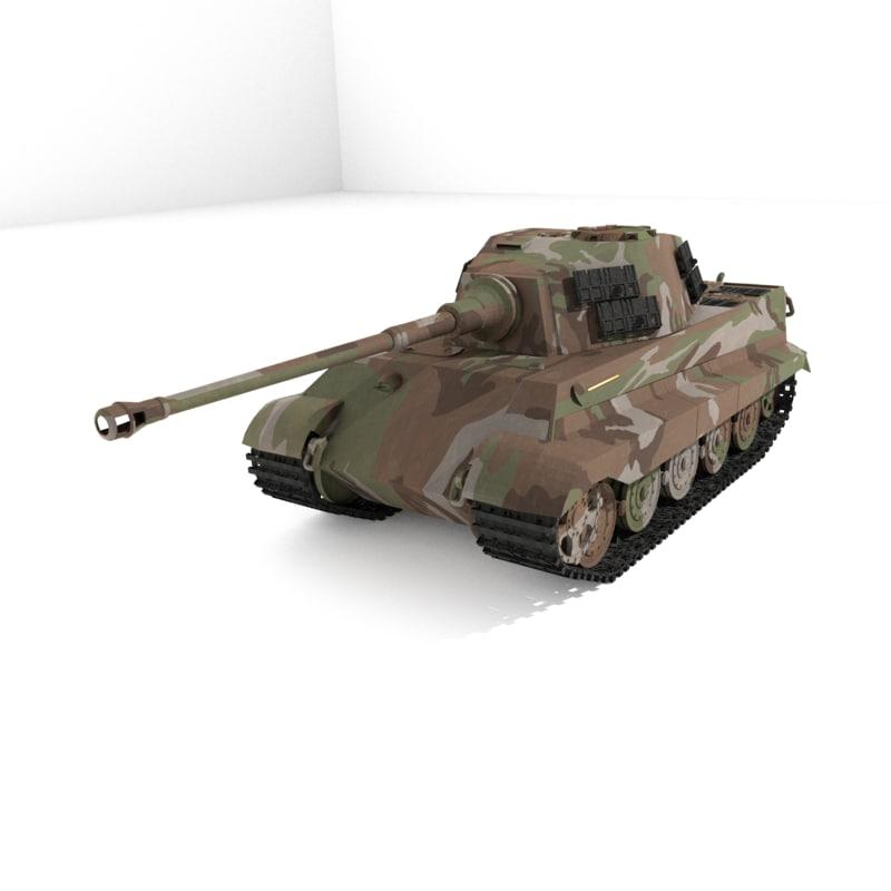 3D tiger 2 tank model