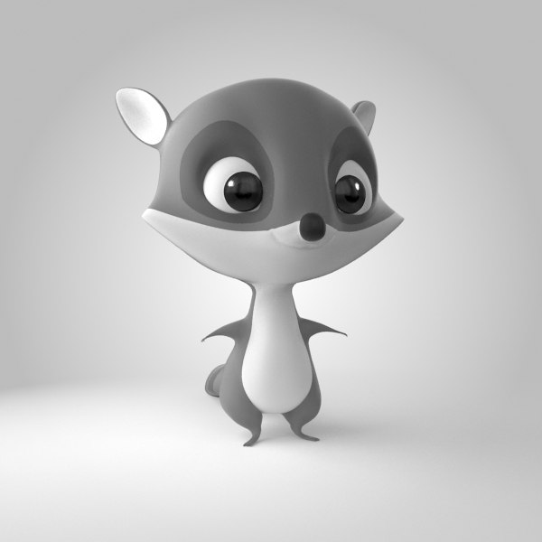 3D raccoon