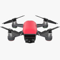 3D dji spark drone