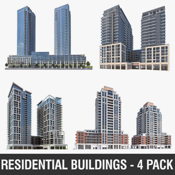 3D high-rise residential buildings model