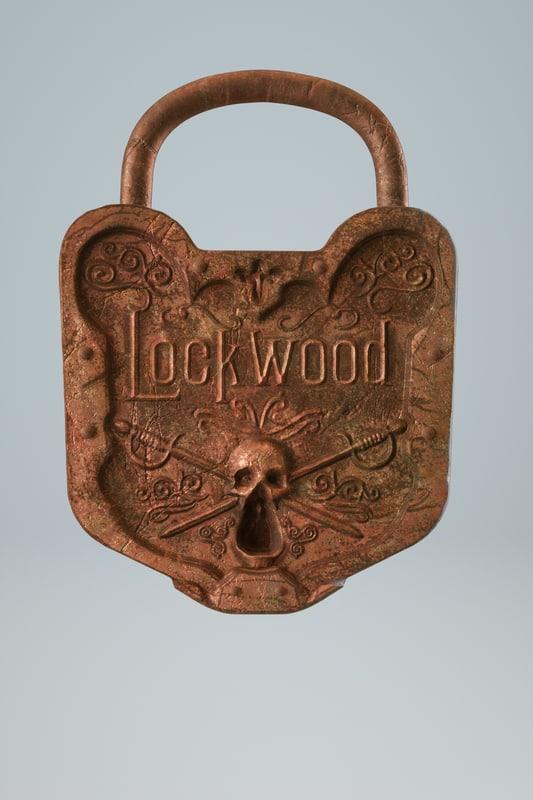 3D model lock treasure