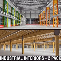 3D industrial interiors model