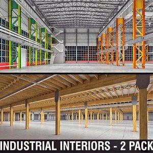 3D industrial interiors model
