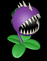 3D chomper plants vs model