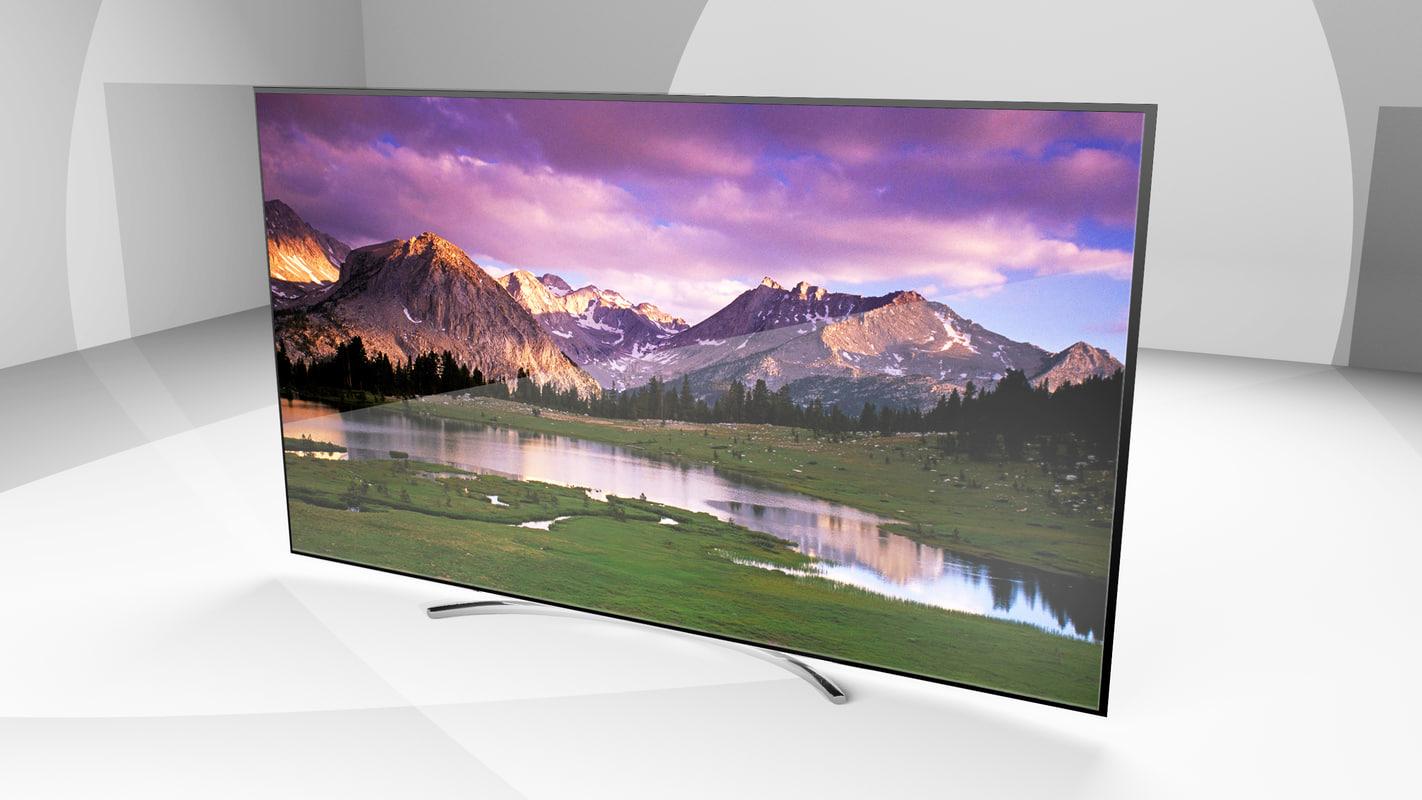 3D model lg sj9500 tv modeled