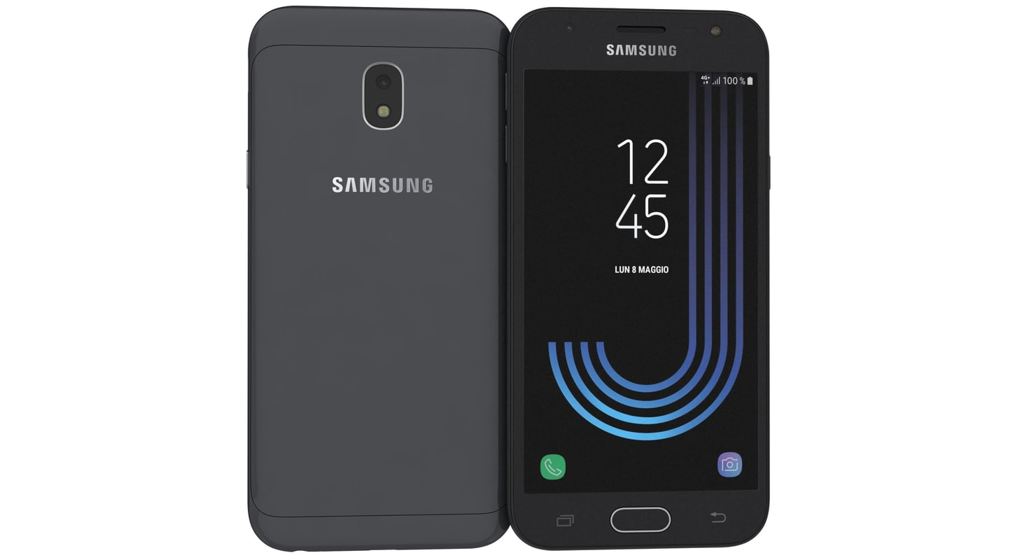 samsung galaxy j3 2017 3D model