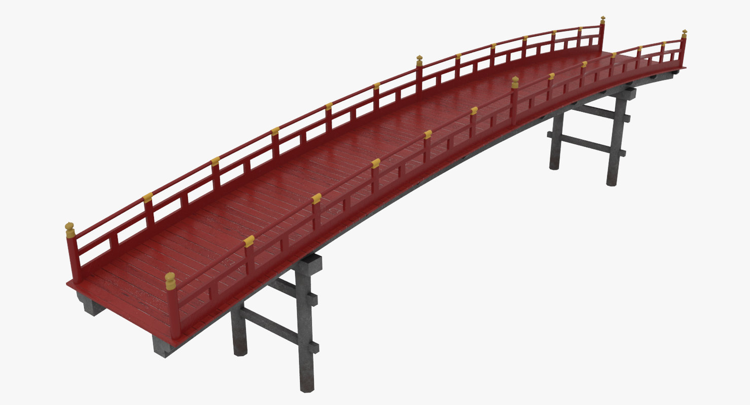 3D asian bridge