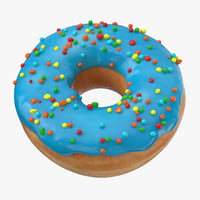 3D donut blue - model