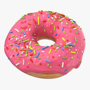 donuts pink - 3D model