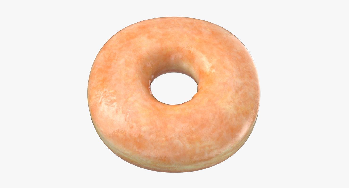 3D donut plain -