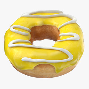 3D donut yellow -