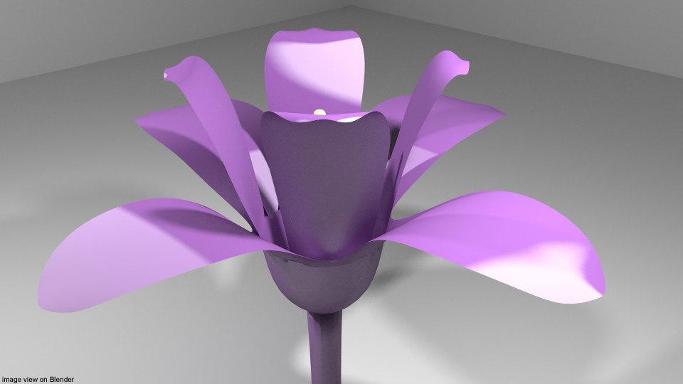 3D orchid flower