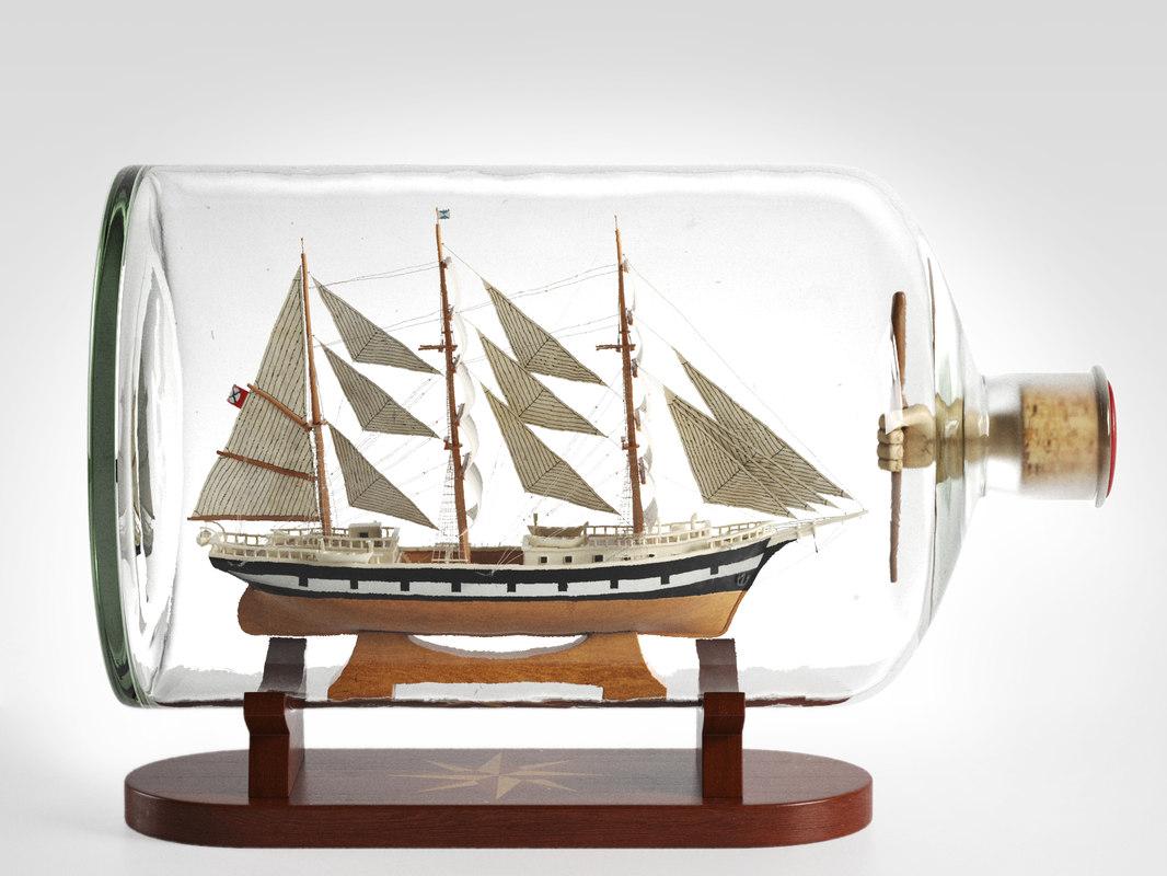 3D ship bottle seute deern