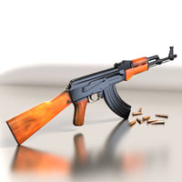 Ak47 with bullets