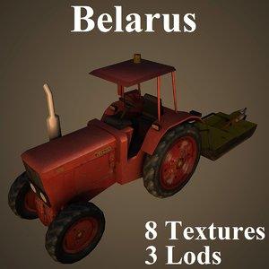 3D tractor belarus airport