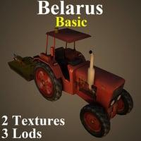 tractor basic 3D model