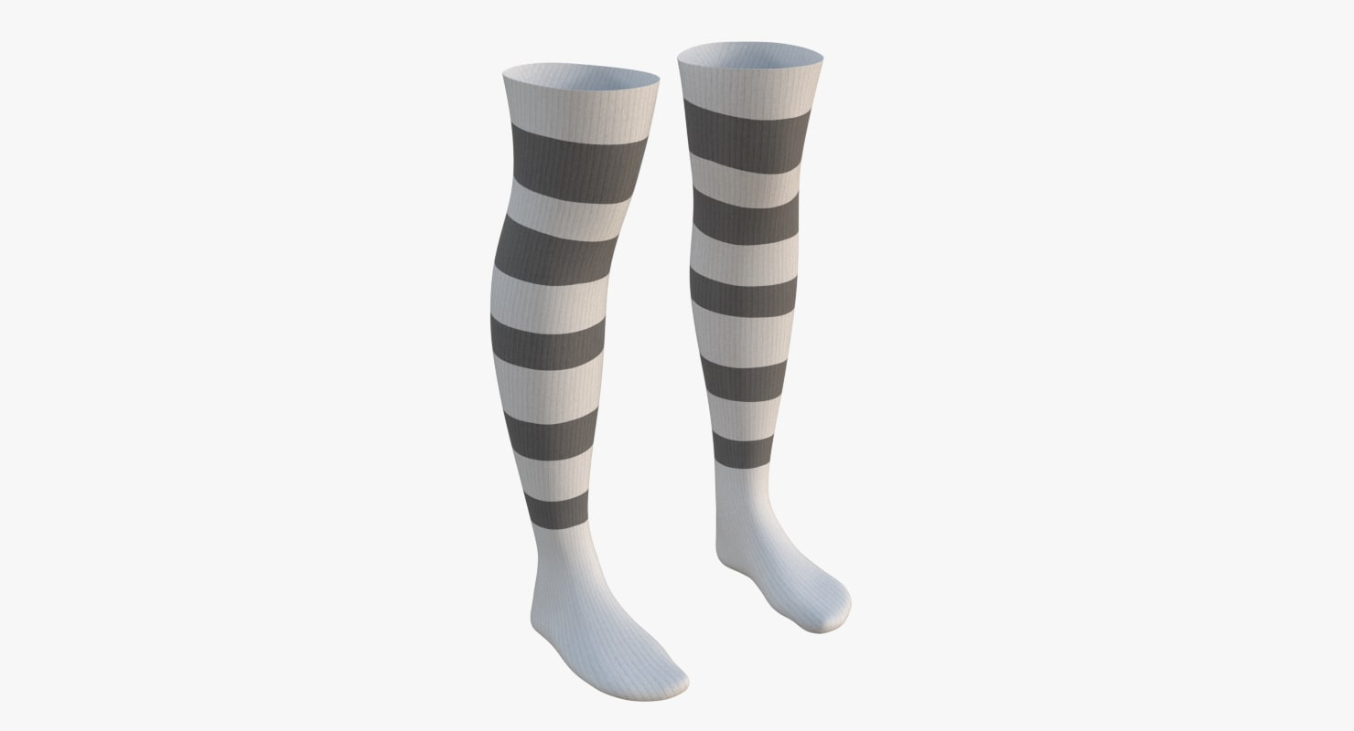 knee socks 1 3D model