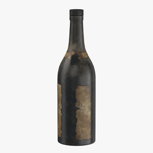 3D old bottle alcohol 03 model