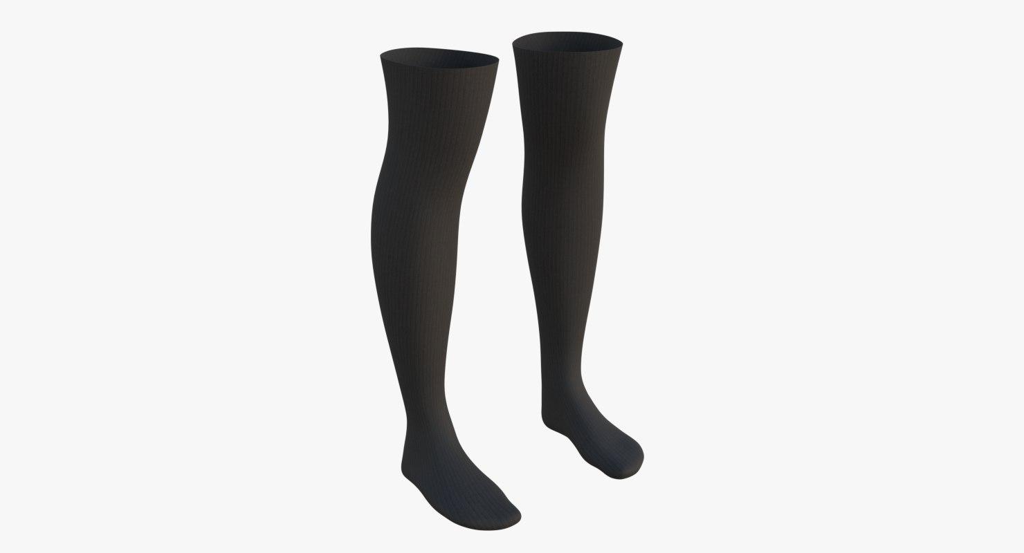 knee socks 3D