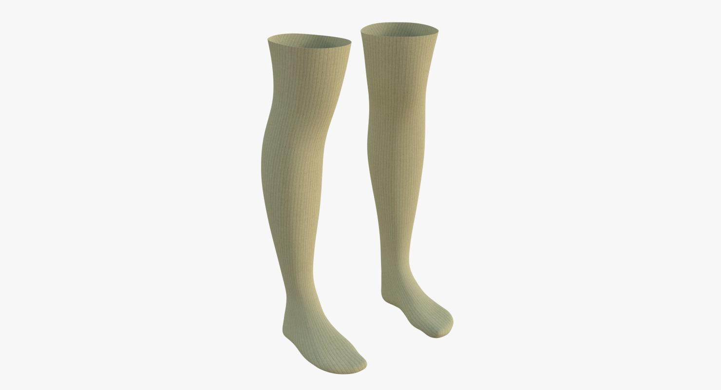 3D knee socks 4 model
