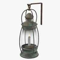 Ship Candle Lantern Mounted Lit