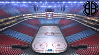 ice hockey arena 3D