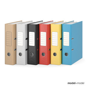 3D office ring binders