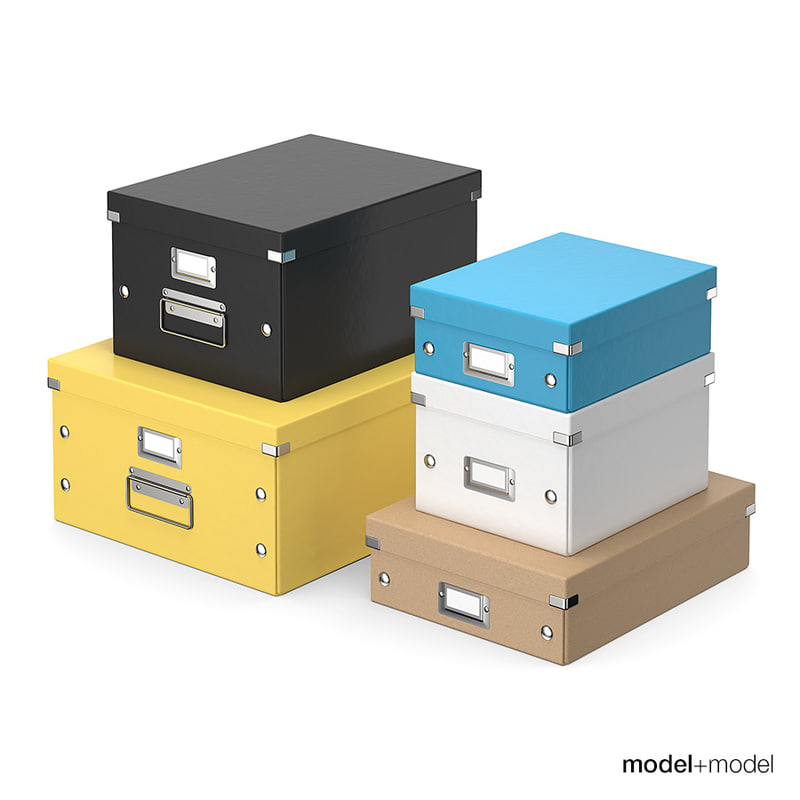 office storage boxes 3D model