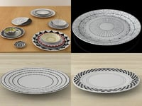 12 plates 3D model