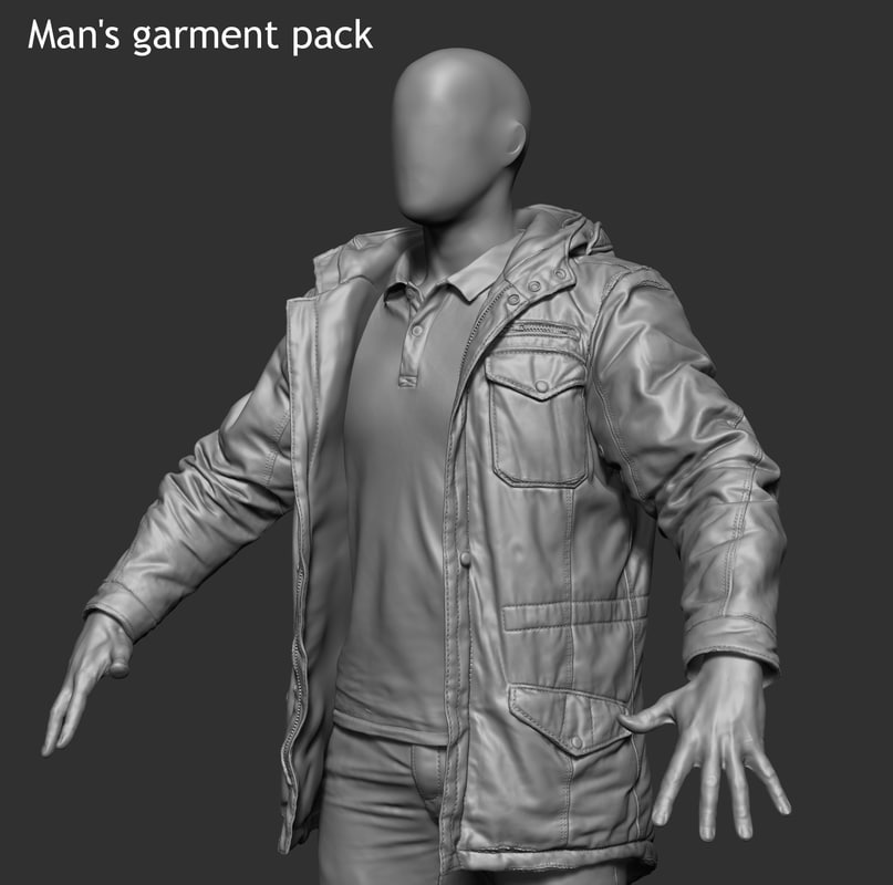 3D model garment pack 01