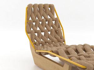biknit chaise longue 3D