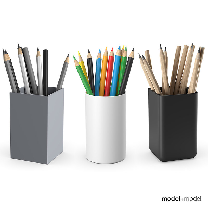 pencils color graphite 3D model