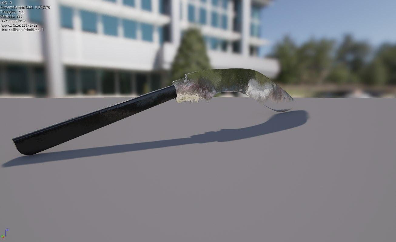 kukri knife 3D model
