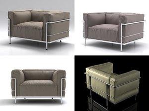 lc3 armchair 3D