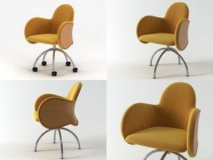 incisa armchair 3D