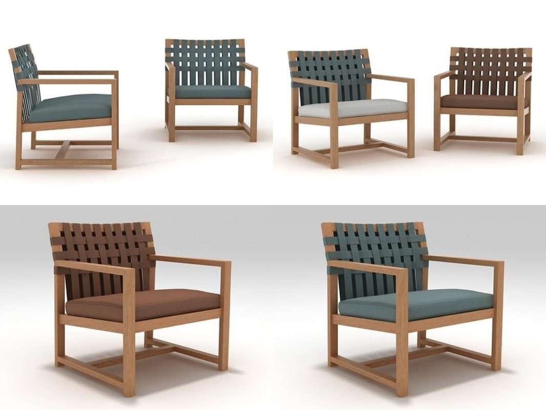 3D network 168 lounge chair model