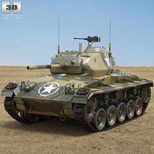3D model m24 chaffee m