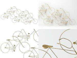 bicycles wall sculpture 3D model