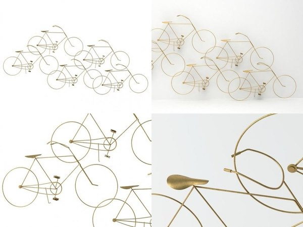 bicycles wall sculpture 3D model