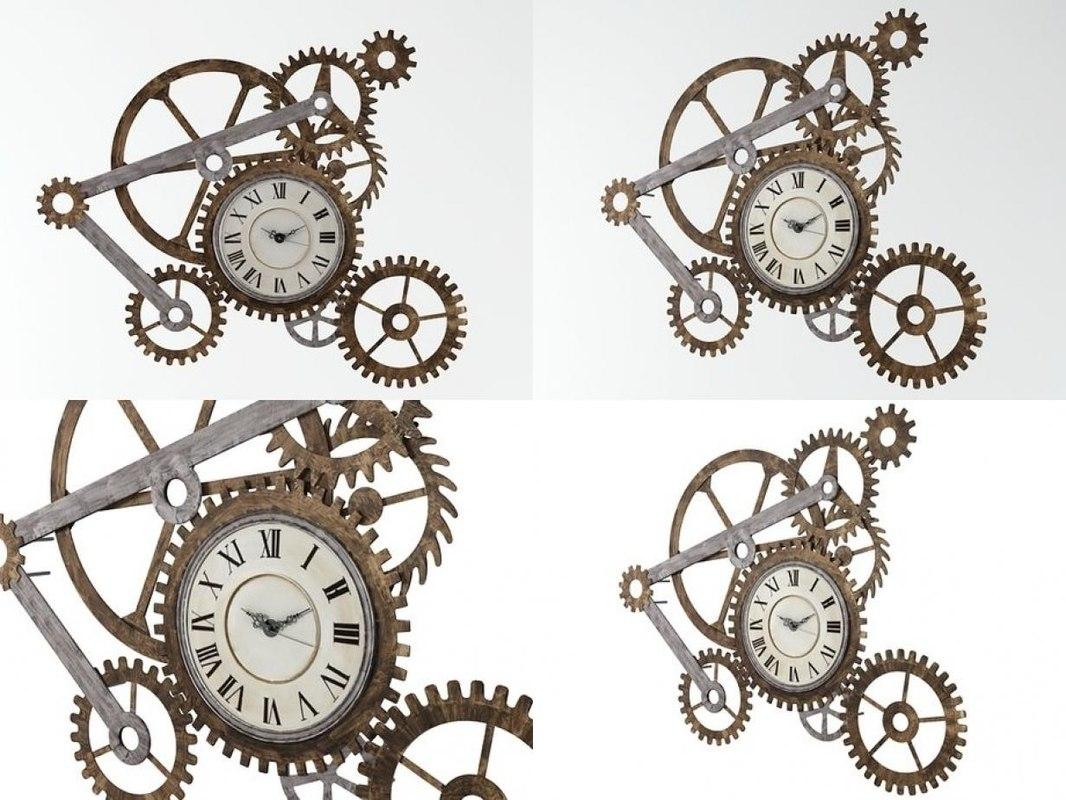 clock wall sculpture 3D model