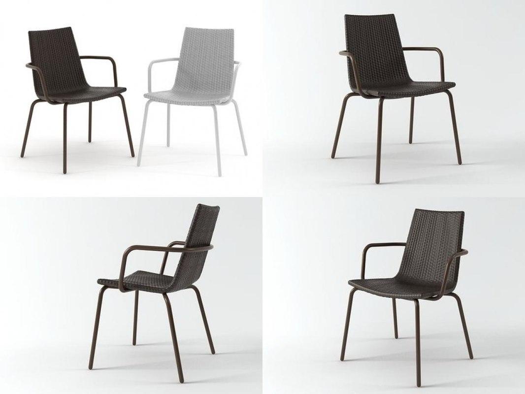3D voile chair armchair